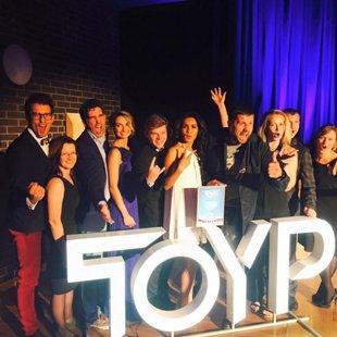 Kopā ar TOYP laureātiem, 2015